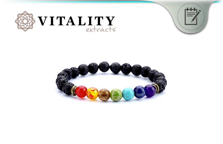 Vitality Extracts 7 Chakra Lava Stone Diffuser Bracelet
